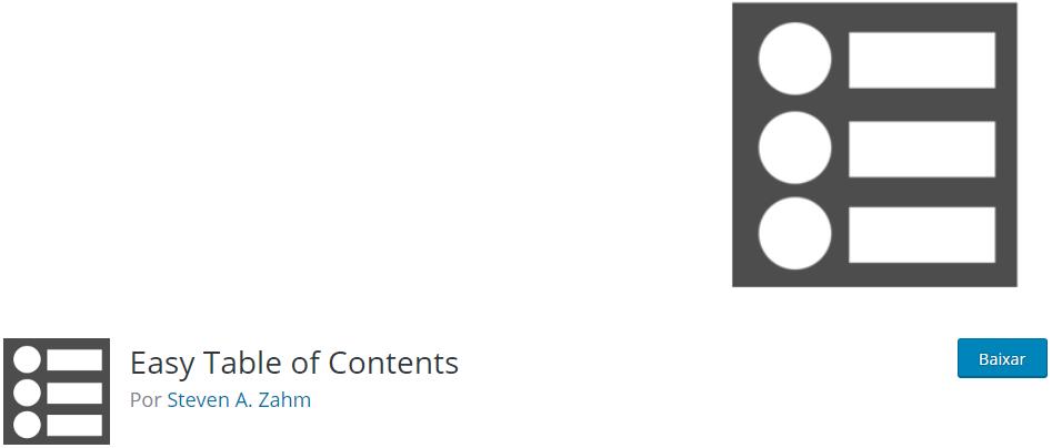 Easy Table of Contents - Os Melhores Plugins WordPress Para o Seu Blog em 2020