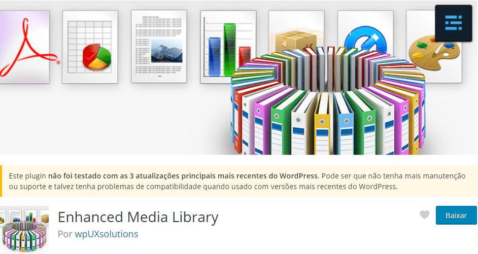 Enhanced Media Library - Os Melhores Plugins WordPress Para o Seu Blog em 2020