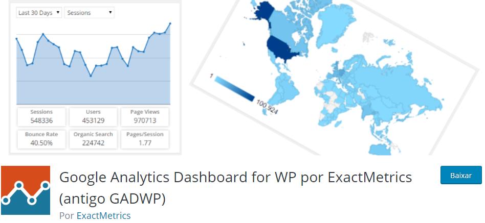 Google Analytics Dashboard for WP - Os Melhores Plugins WordPress Para o Seu Blog em 2020