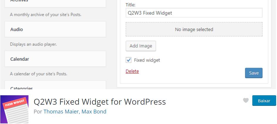 Q2W3 Fixed Widget - Os Melhores Plugins WordPress Para o Seu Blog em 2020