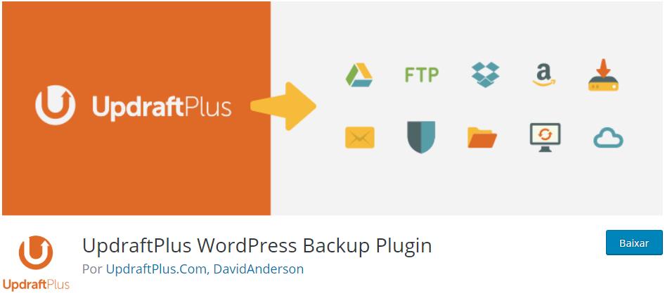 UpdraftPlus - Os Melhores Plugins WordPress Para o Seu Blog em 2020